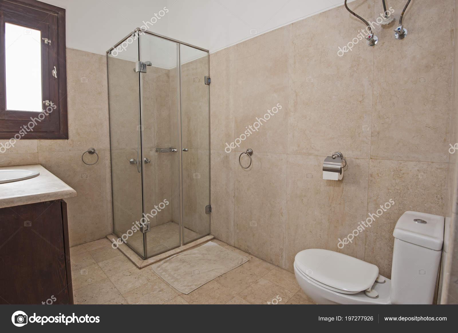 Interior Design Luxury Show Home Bathroom Shower Cubicle — Stock ...