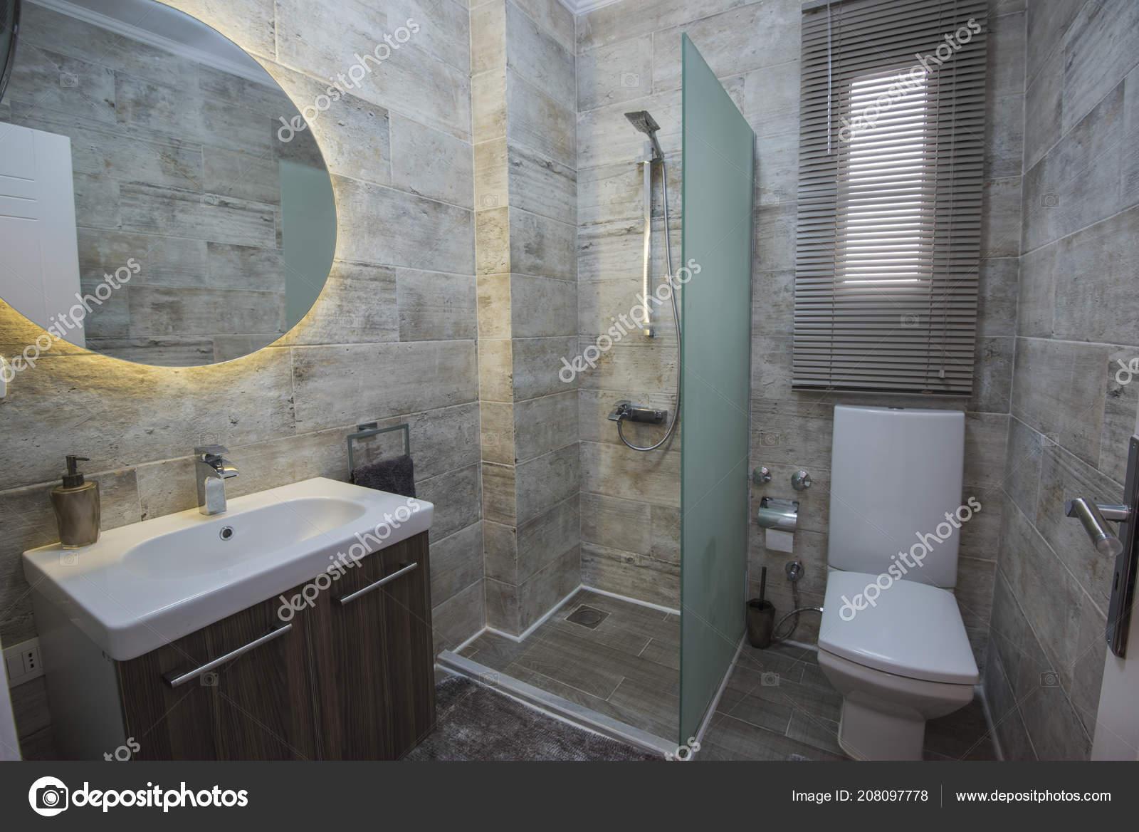 Diseño Interiores Lujo Mostrar Casa Cuarto Baño Con Cabina Ducha ...