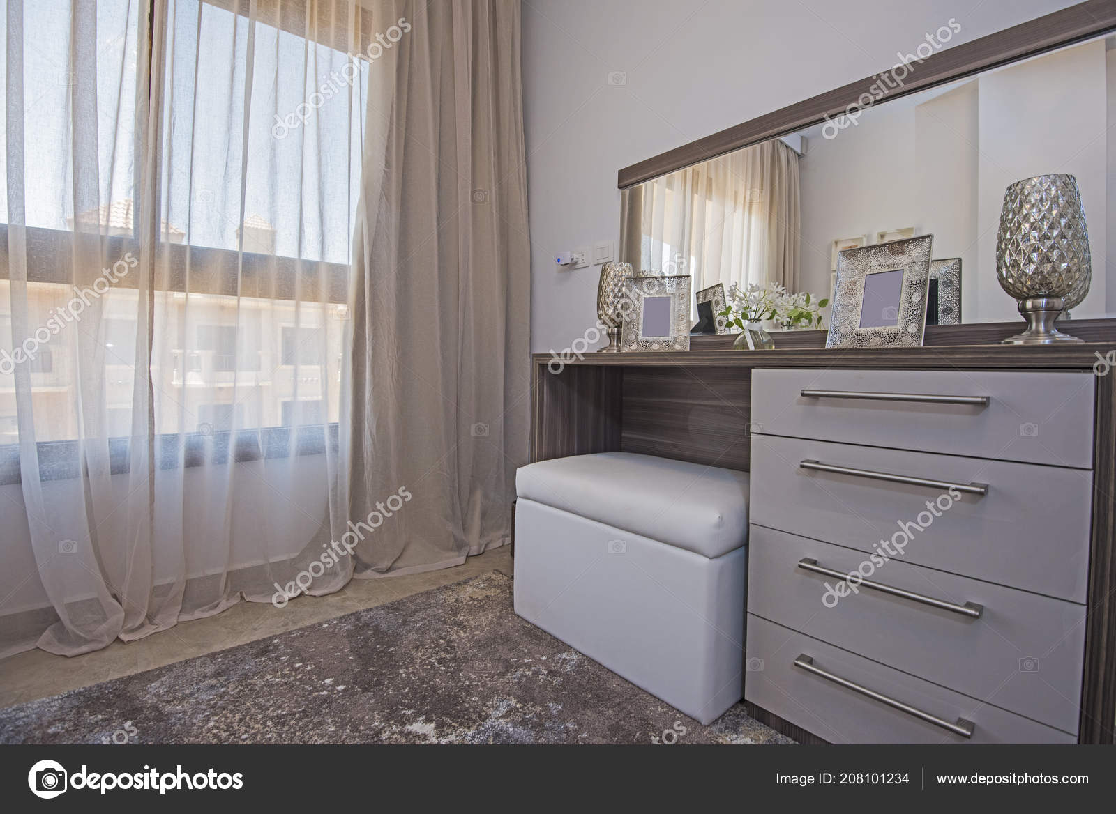 Pictures Show Home Interiors Interior Design Decor Furnishing Luxury Show Home Bedroom Dressing Table Stock Photo C Paulvinten 208101234