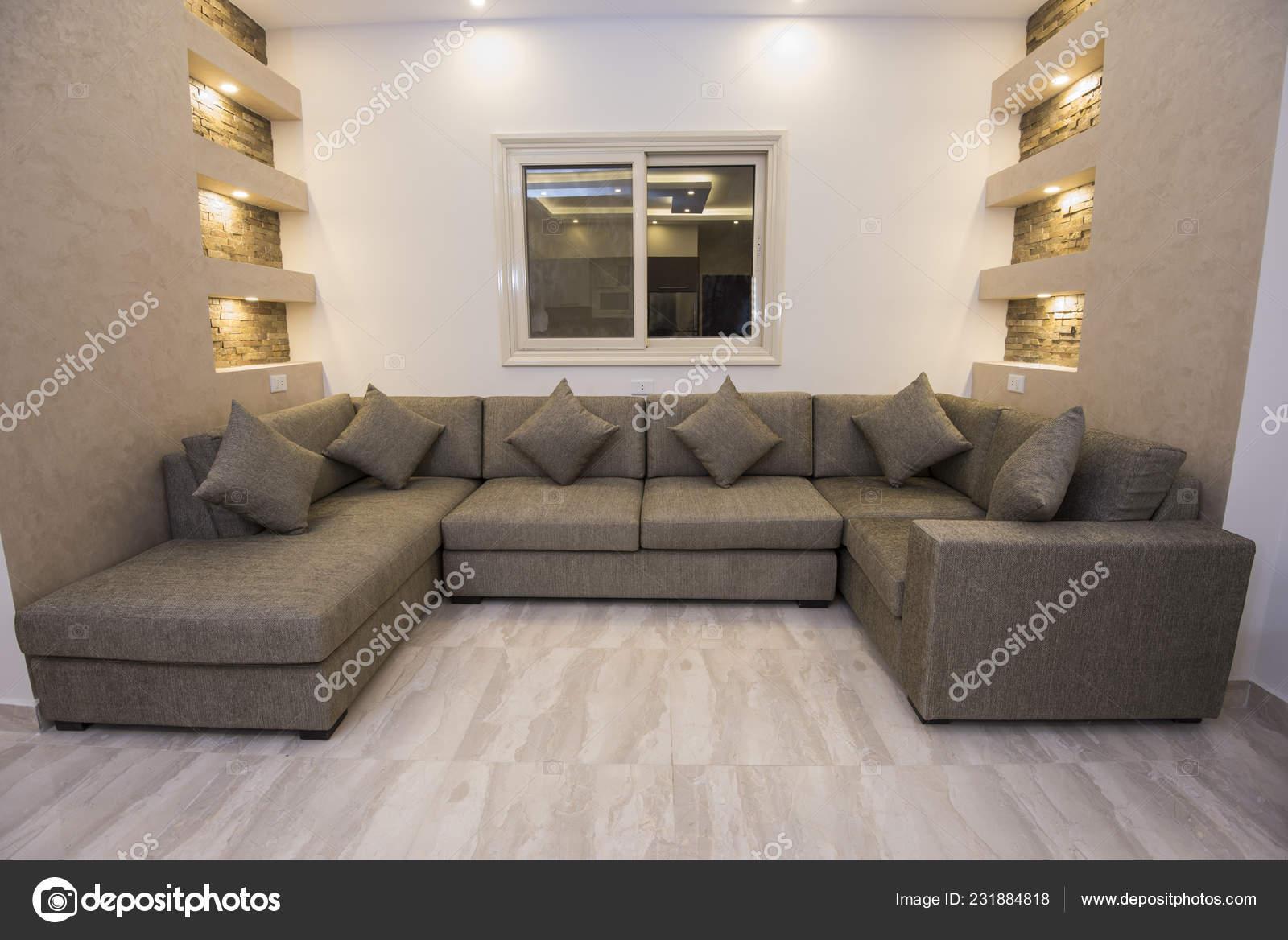 Wohnzimmer Lounge Sofa Luxus Appartement Zeigen Nach Hause ...