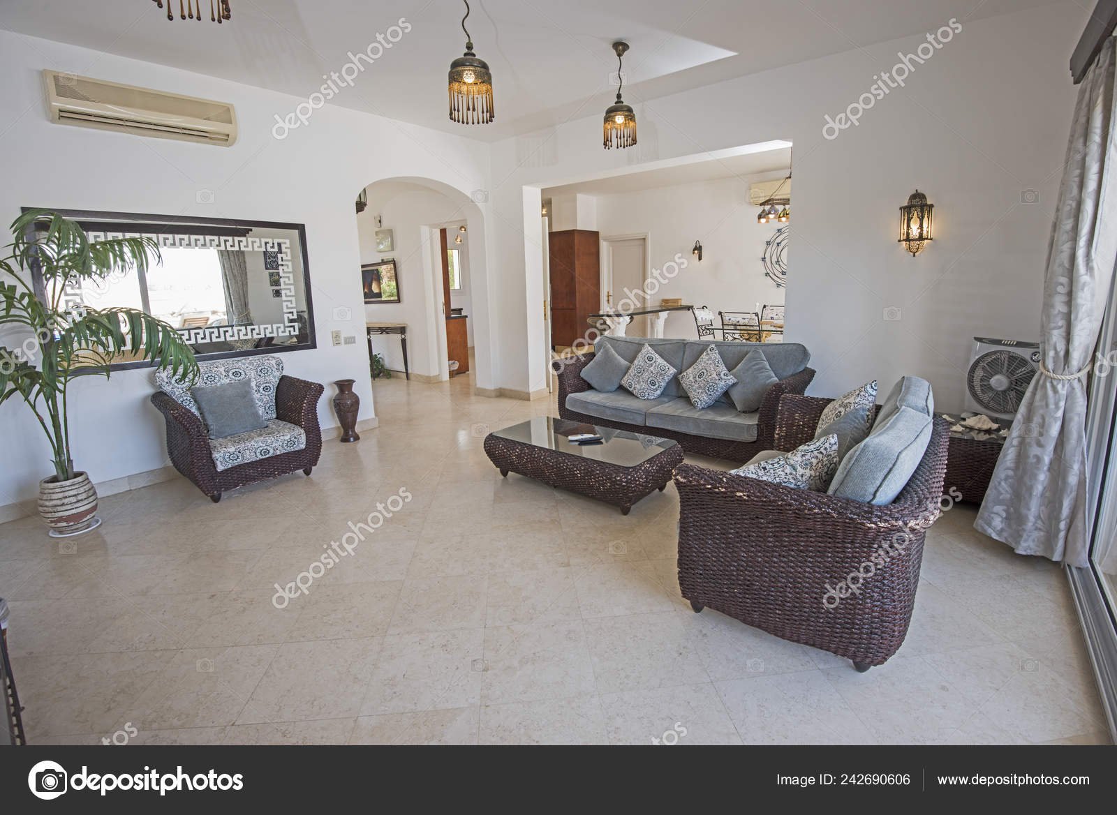 Living Room Lounge Luxury Holiday Villa Show Home Showing ...