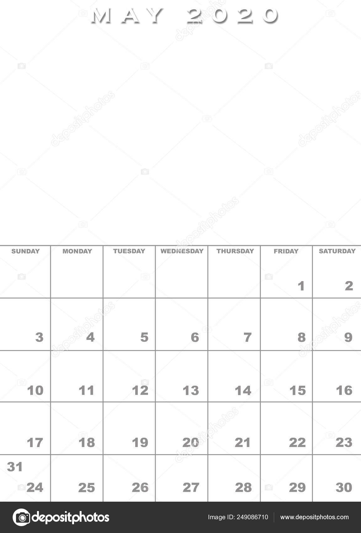 Calendario Maggio 2020.Modello Di Calendario Maggio 2020 Foto Stock C Paulvinten