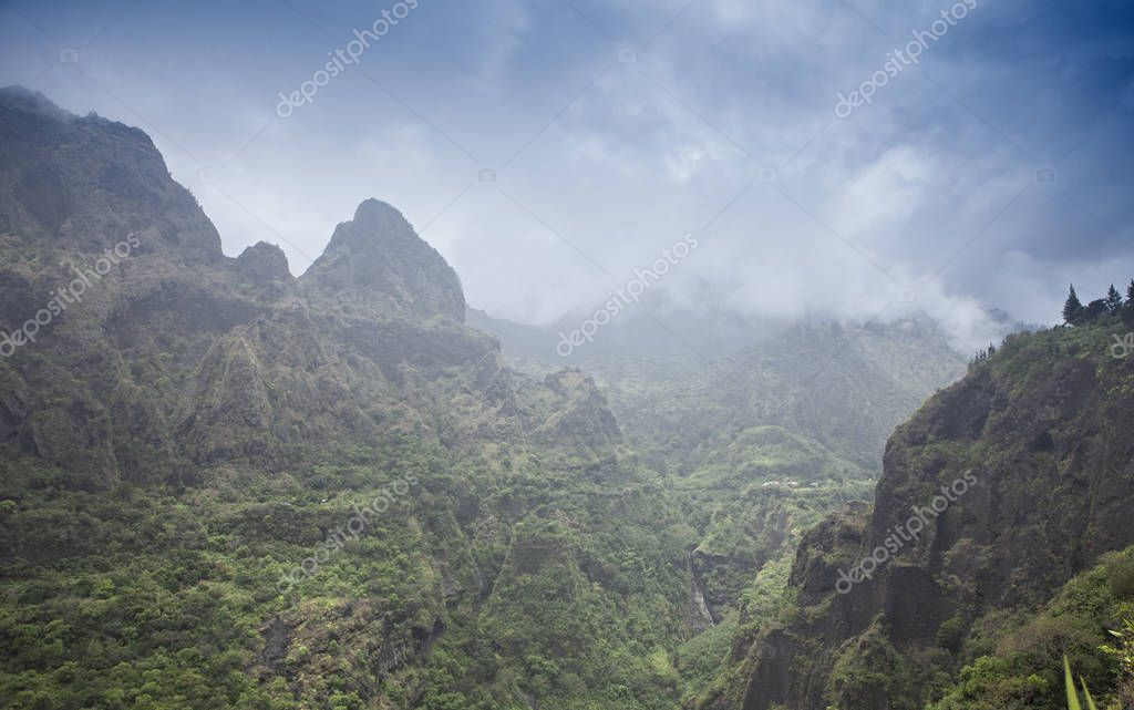 raining day on the mountains of reunion island