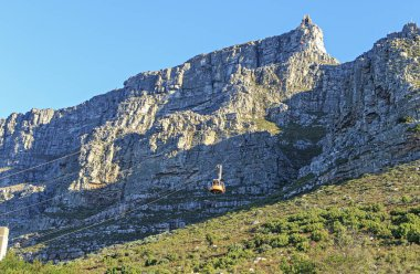 view from above on the famous table mountain