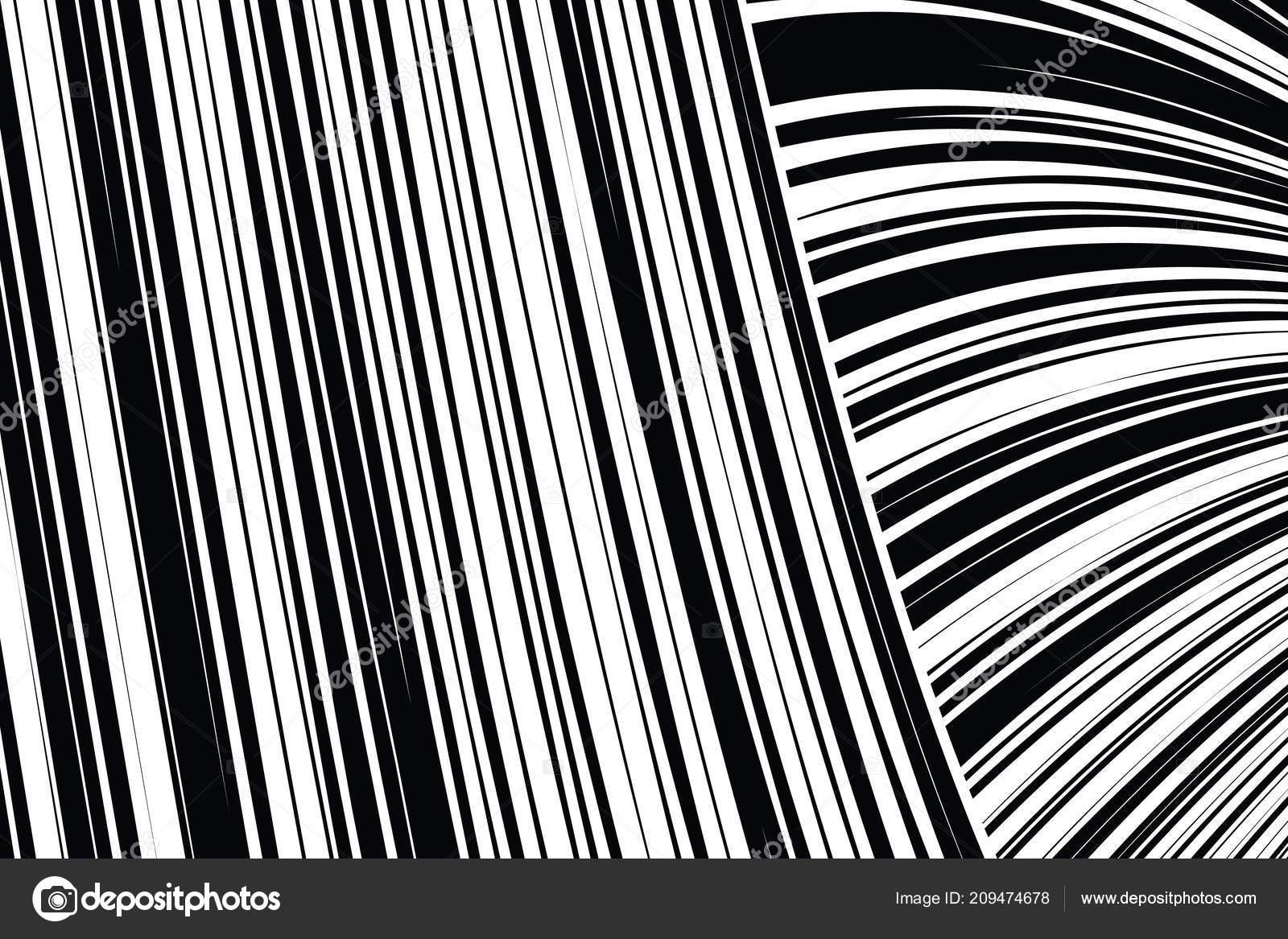 Wonderbaarlijk Abstracte kromgetrokken zwart-wit lijnen achtergrond — Stockvector RD-58