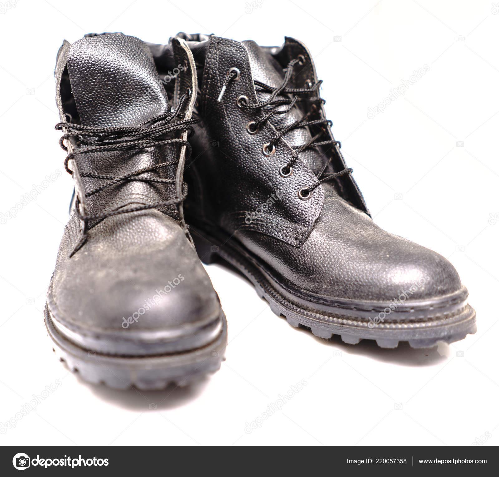 01b6e9506a77f Sapatos de proteção trabalhador — Stock Photo © Supertrooper  220057358