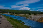 Firehole River near Grand Prismatic Spring in Yellowstone National Park, Wyoming