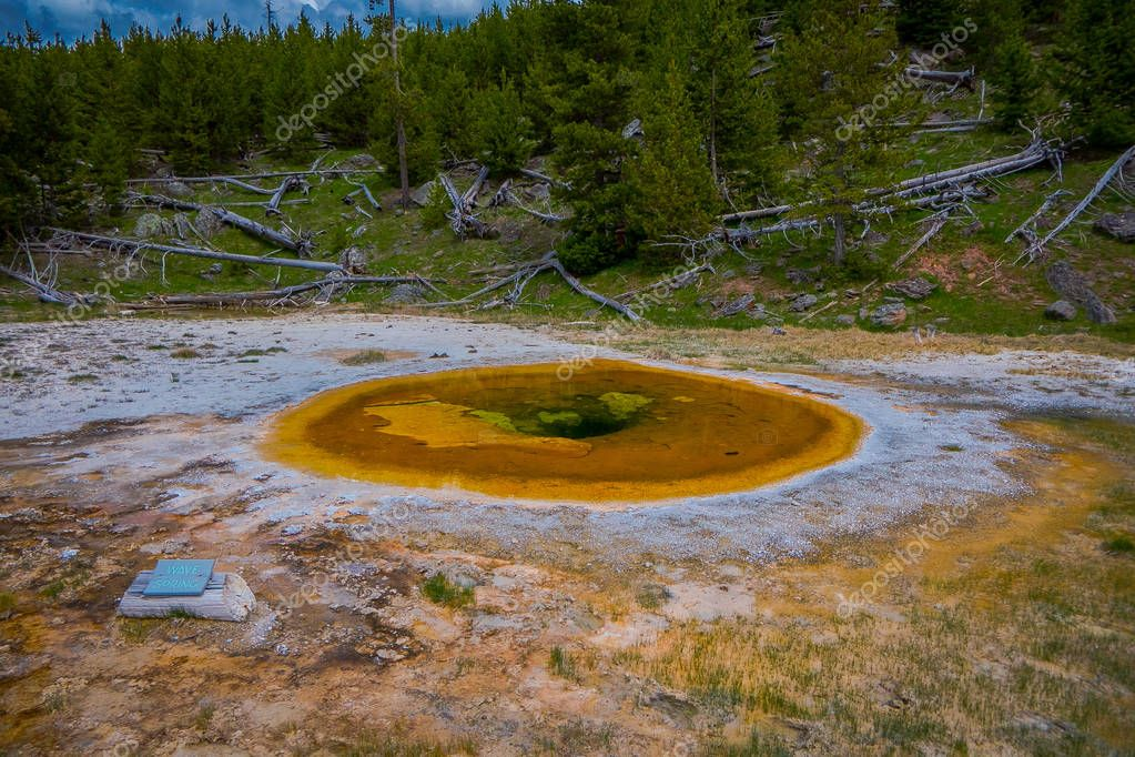 Beauty pool, Old Faithful Basin, Yellowstone National Park Wyoming