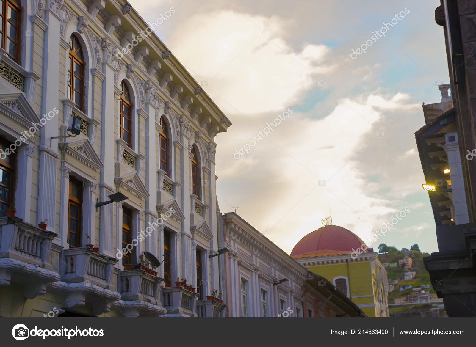 Quito Ecuador August 24 2018 Typical Colonial Architecture In