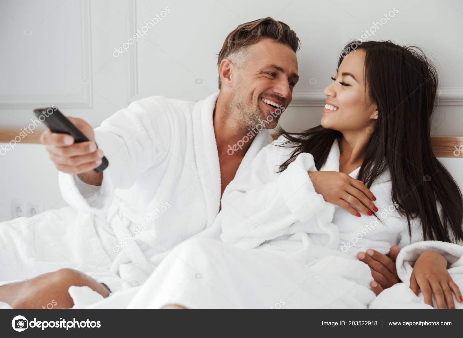 Asian woman and caucasian man
