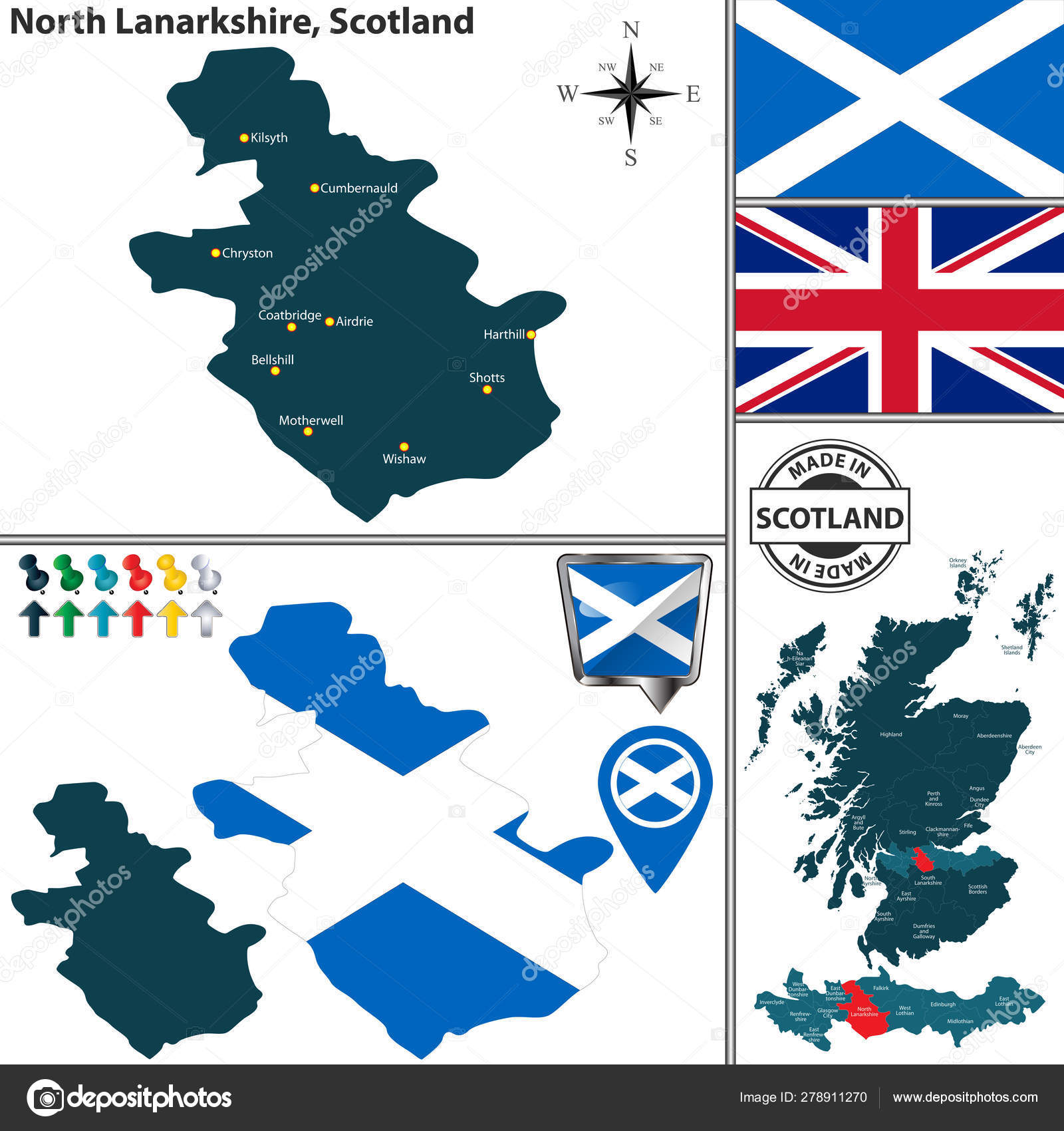 Map of North Lanarkshire, Scotland — Stock Vector © sateda ... Map Of Airdrie Scotland on map east lothian scotland, excelsior stadium, airdrie public library, lanark high church glasgow scotland, map of airdrie alberta, map of glasgow ky, airdrie-bathgate rail link, airdrie and shotts, airdrie public observatory, airdrie lanarkshire scotland,