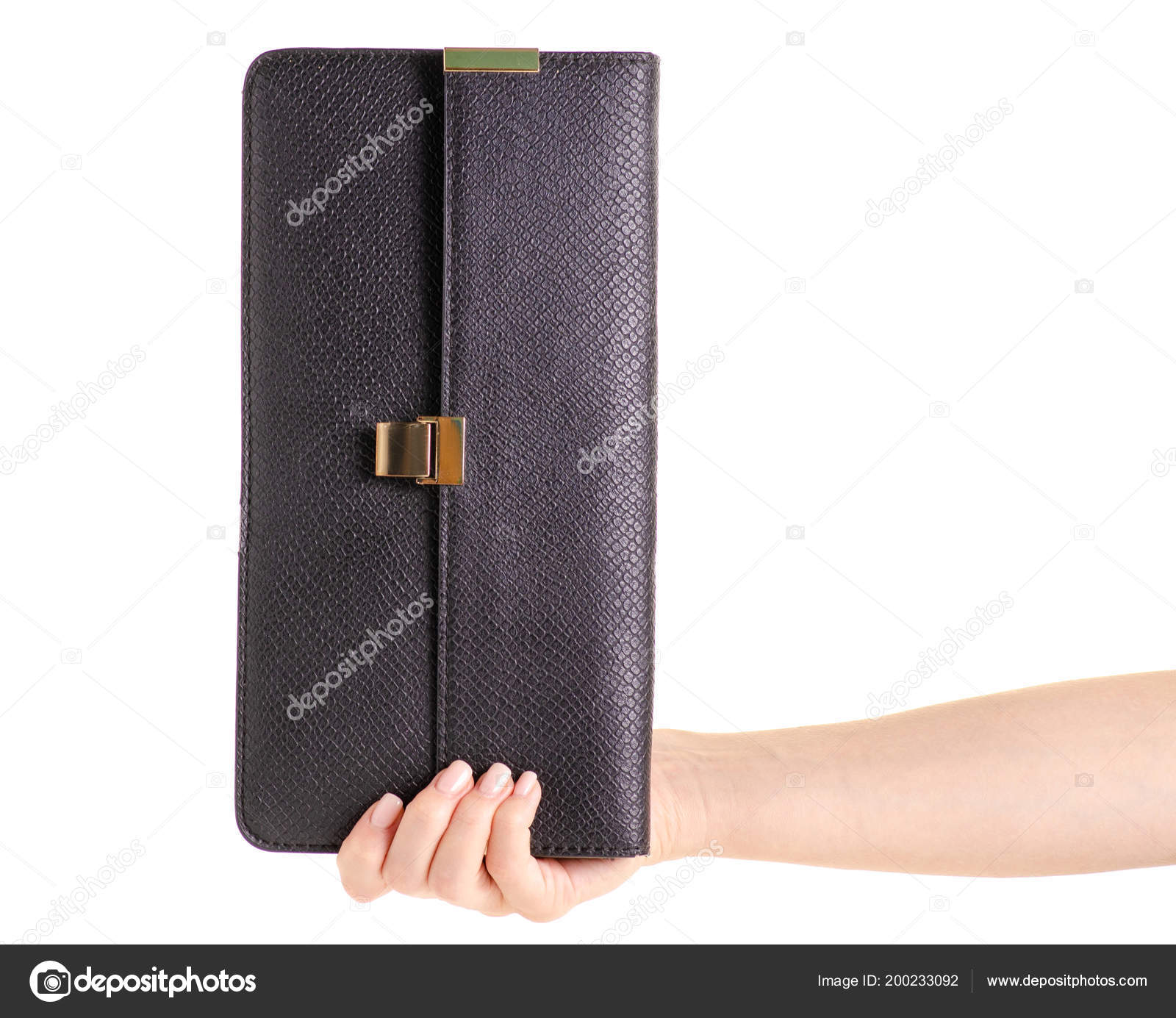 aa6ea329164b2 Siyah deri kadın çanta debriyaj el Beyaz zemin yalıtımı hakkında —  Evgenyjs1 ...