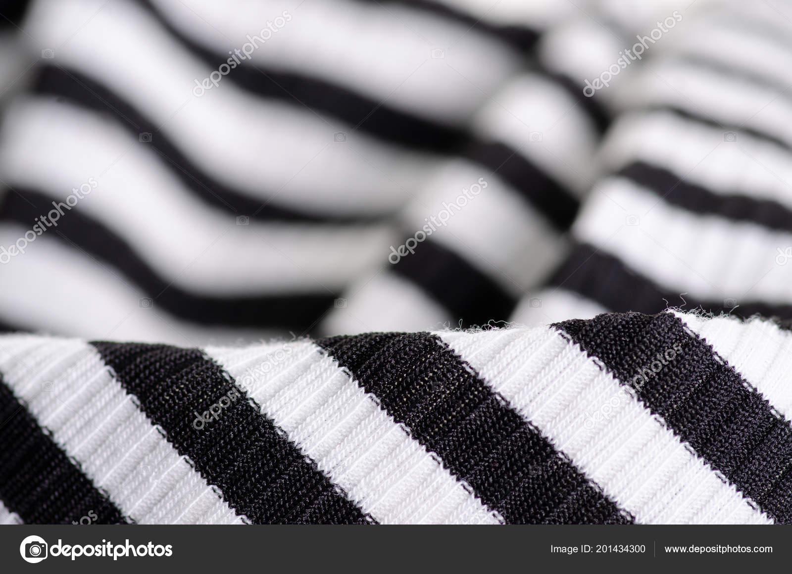 Striscia Di Tessuto.Striscia Di Tessuto Abbigliamento Bianco E Nero Foto Stock
