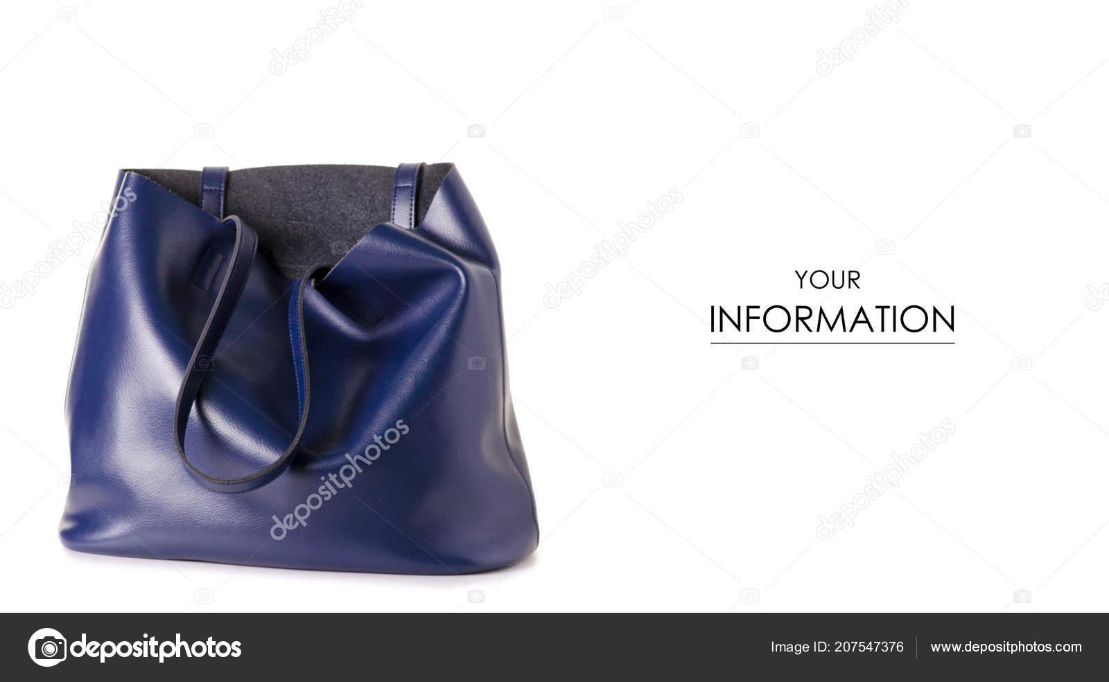 38bb8cef59 Modré kožené Dámské kabelky vzor na bílém podkladu izolace — Fotografie od  ...