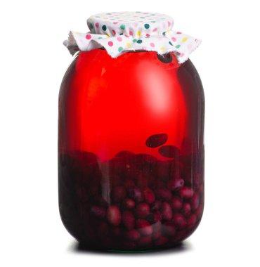 Compote grapes jar