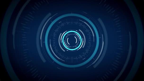 Circuito Virtual : Holograma de circuito virtual sobre fondo negro u vídeo de stock