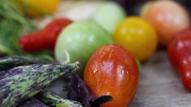 Close up view of fresh tomatoes on kitchen table