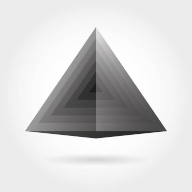 Smooth color gradient triangle icon logo. Vector illustration for your design project