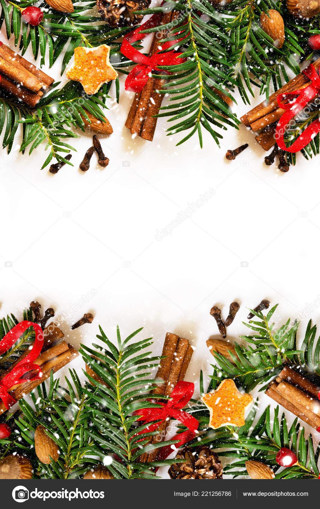christmas new year border design white background fir tree orange stock photo c oleshdiz 221256786 https depositphotos com 221256786 stock photo christmas new year border design html