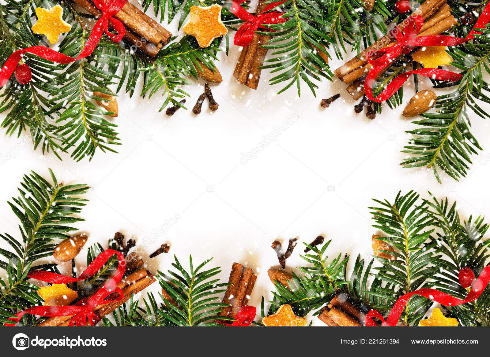 Christmas Border Design.Christmas Border Design On The White Background Stock
