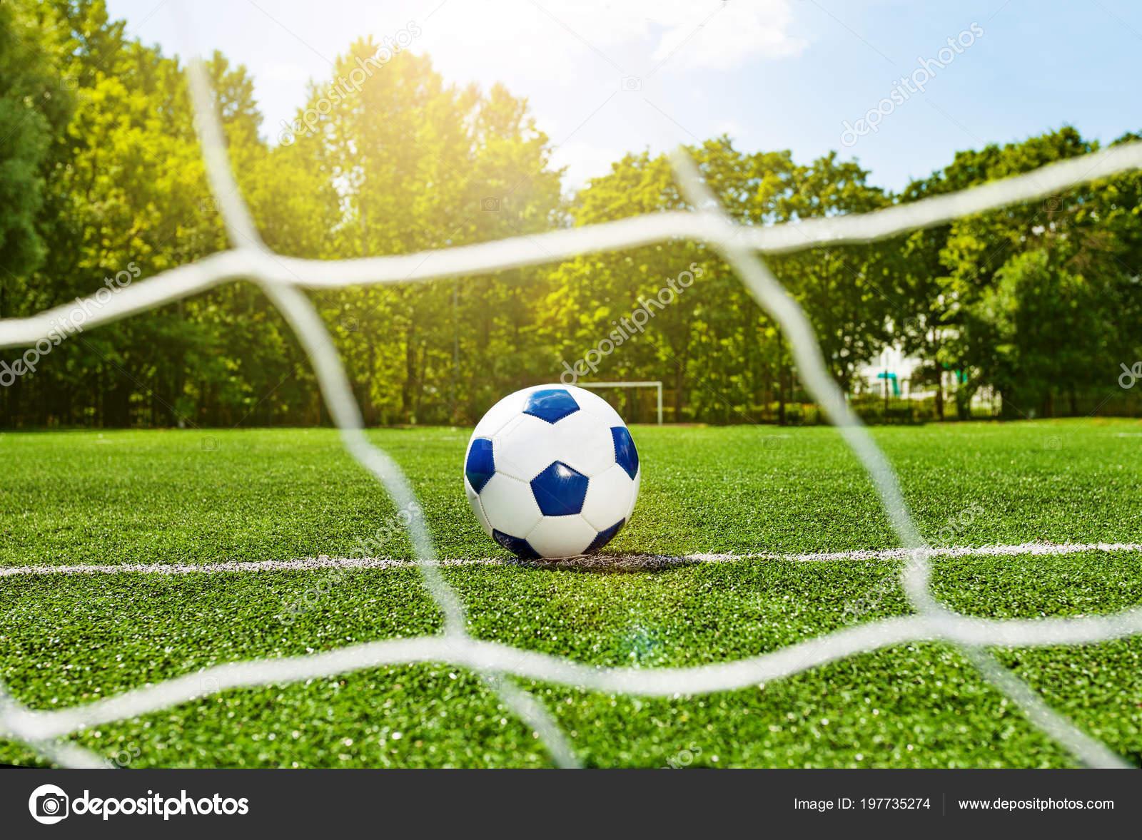 Tappeti Per Bambini Campo Da Calcio : Pallone calcio calcio bambini scuola dietro cancello netto sul campo
