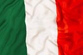 Fotografia Italia paese stato indipendente nazionale bandiera esterna Close-up con londeggiamento del trama del tessuto