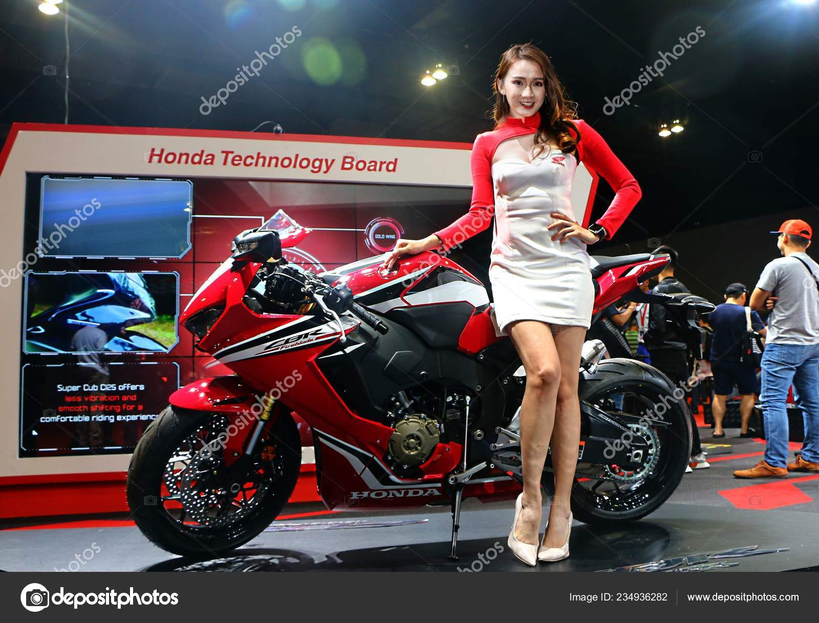 Kuala Lumpur Malaysia December 2018 Model Posed Honda Cbr Fireblade