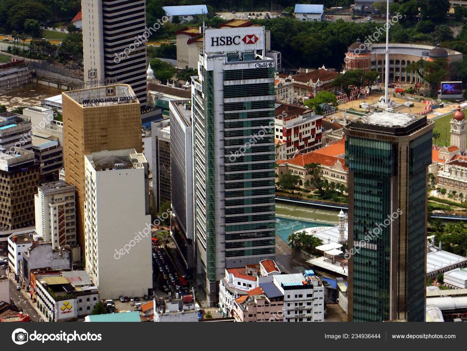 Kuala Lumpur Malaysia December 2018 Hsbc Bank Located Leboh Ampang