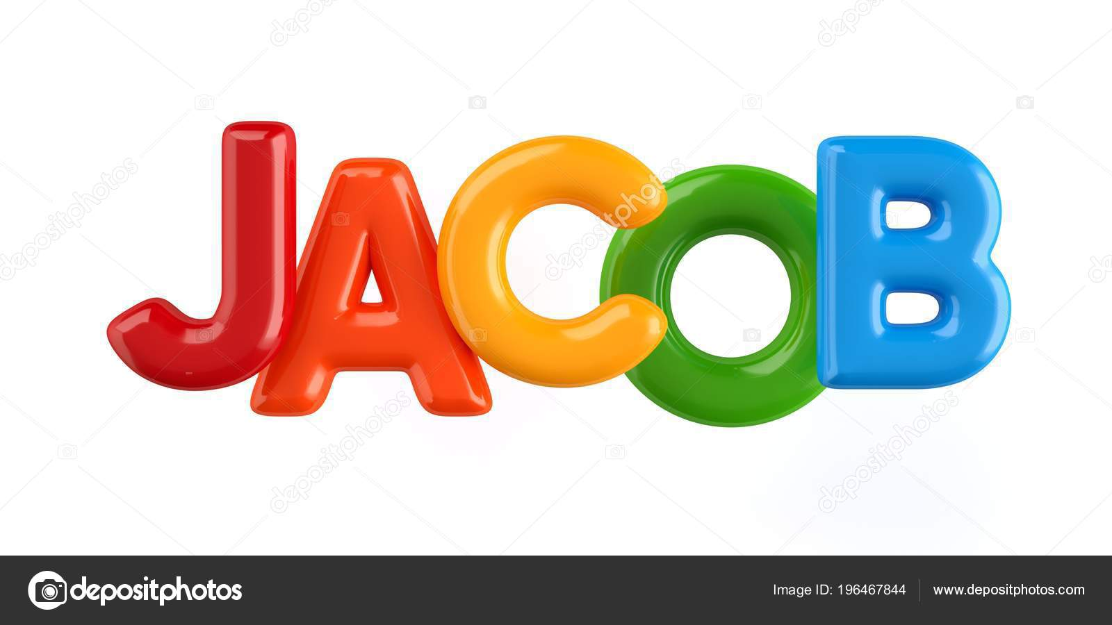 depositphotos 196467844 stock photo isolated colorfull 3d kid name