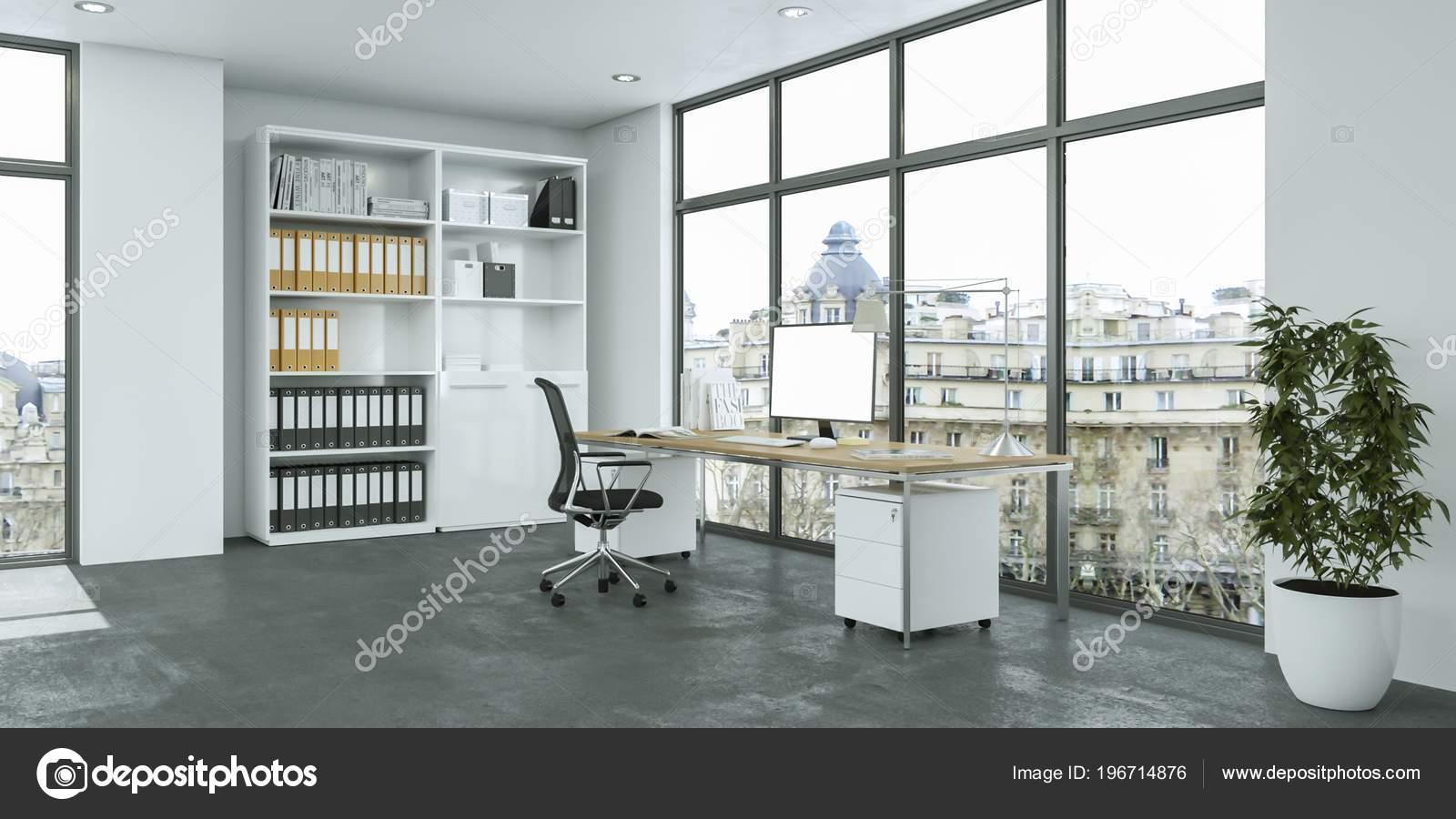 Maqueta interior de oficinas | Maqueta Representación ...