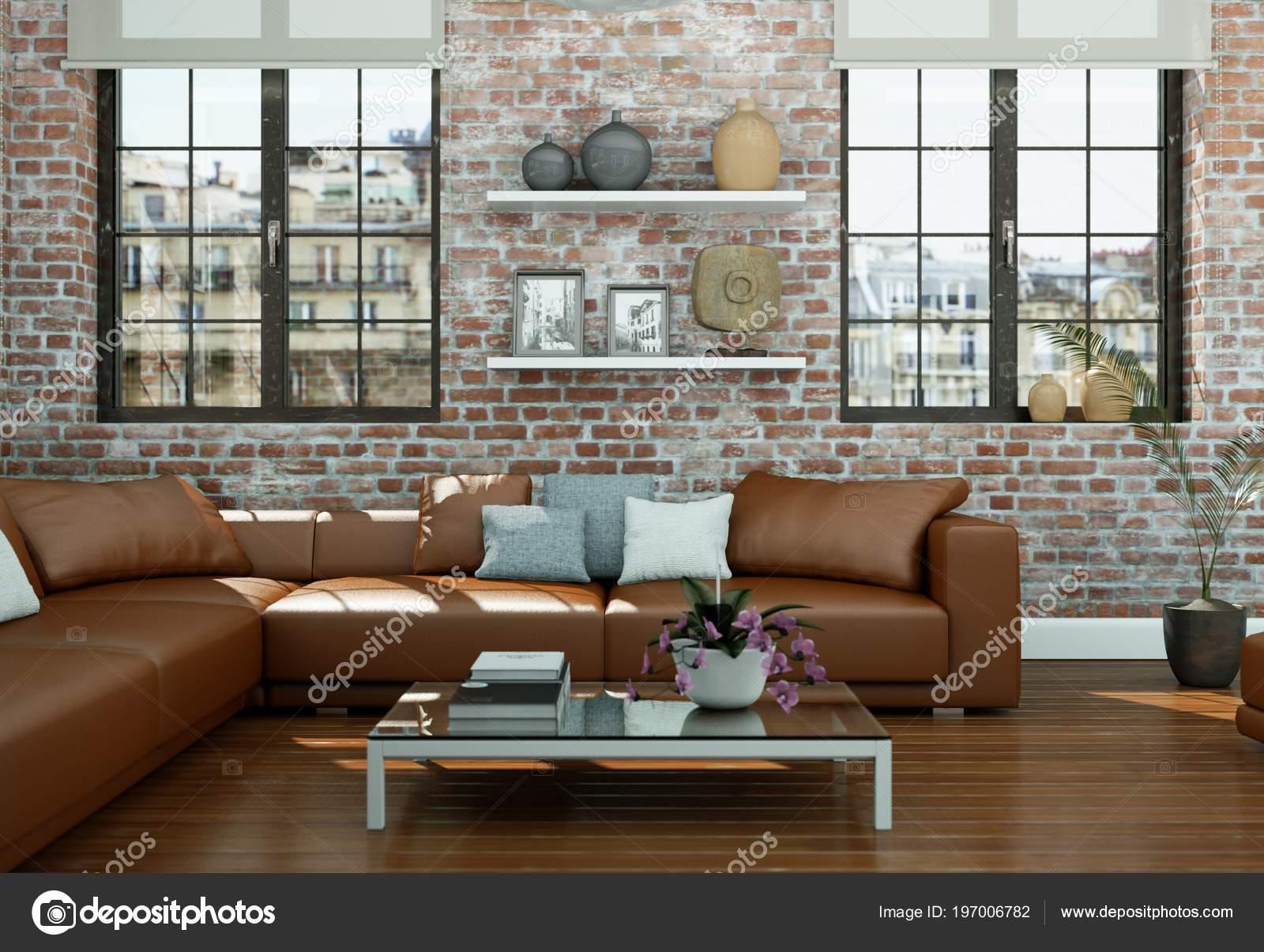 Skandinavian moderno soggiorno design d\'interni con ...