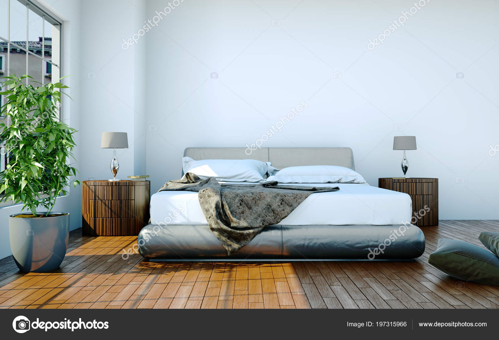 Modern Bedroom With King Size Bed And Modern Decor Stock Photo Image By C Virtua73 197315966
