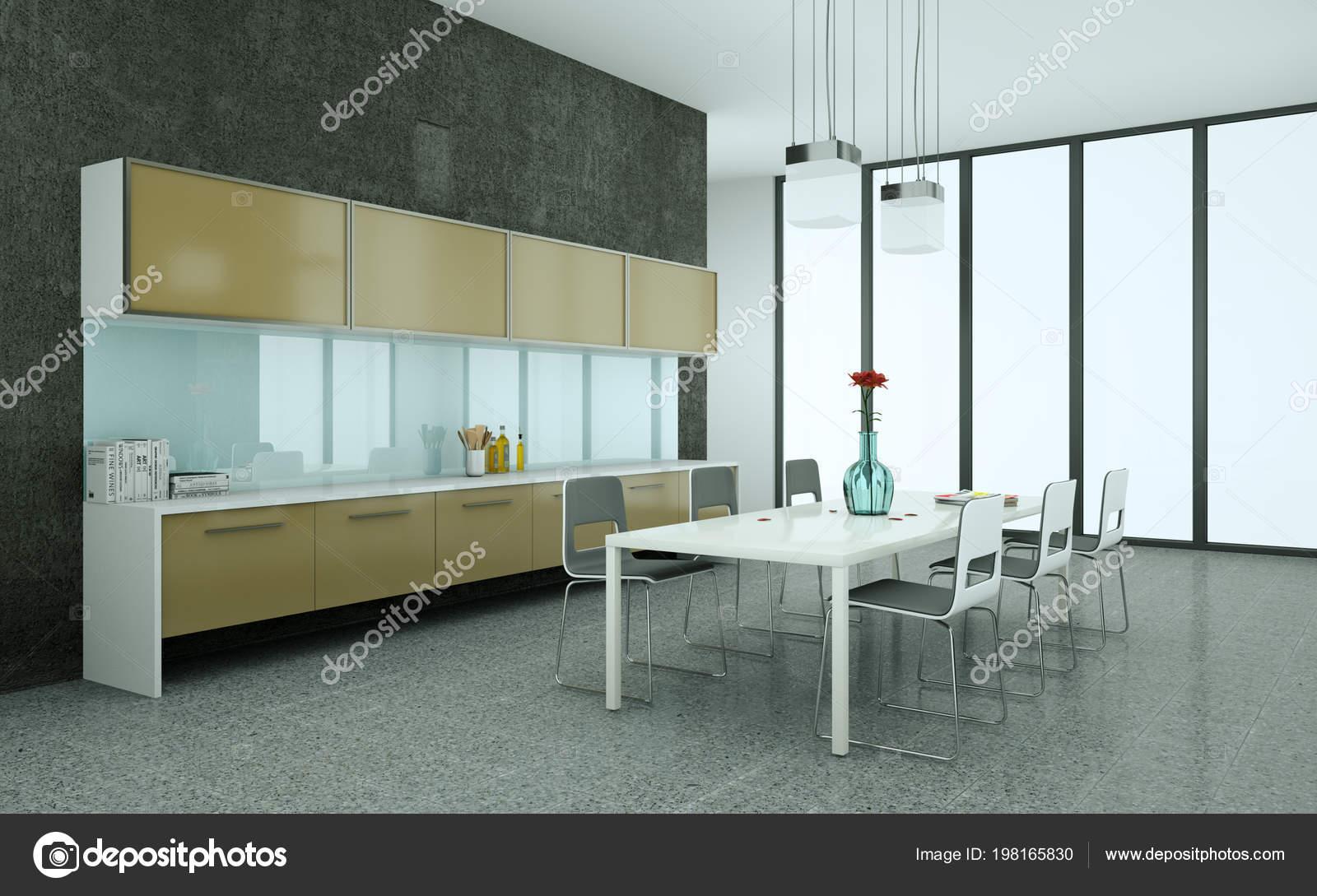 Braune Moderne Kuche In Einem Haus Mit Einem Schonen Design