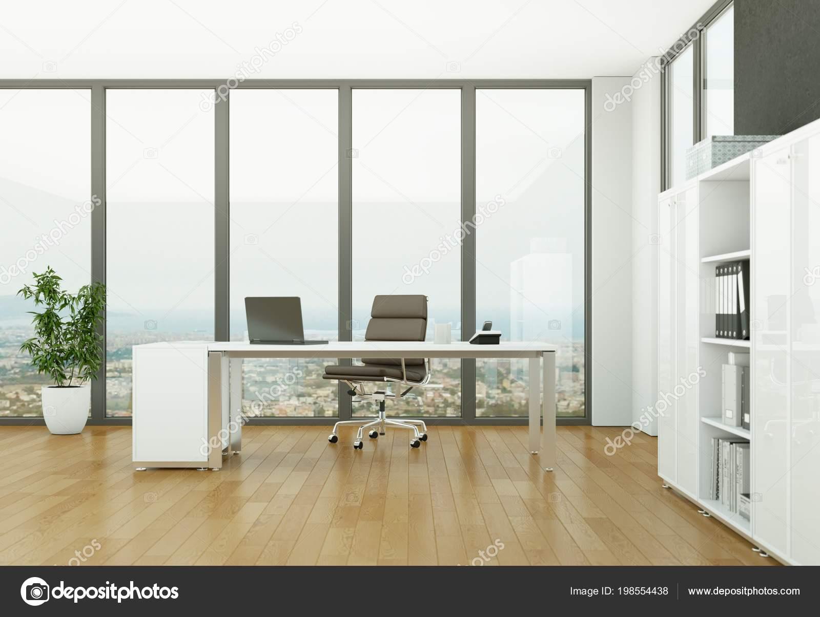 design d'intérieur de bureau moderne avec mur en béton