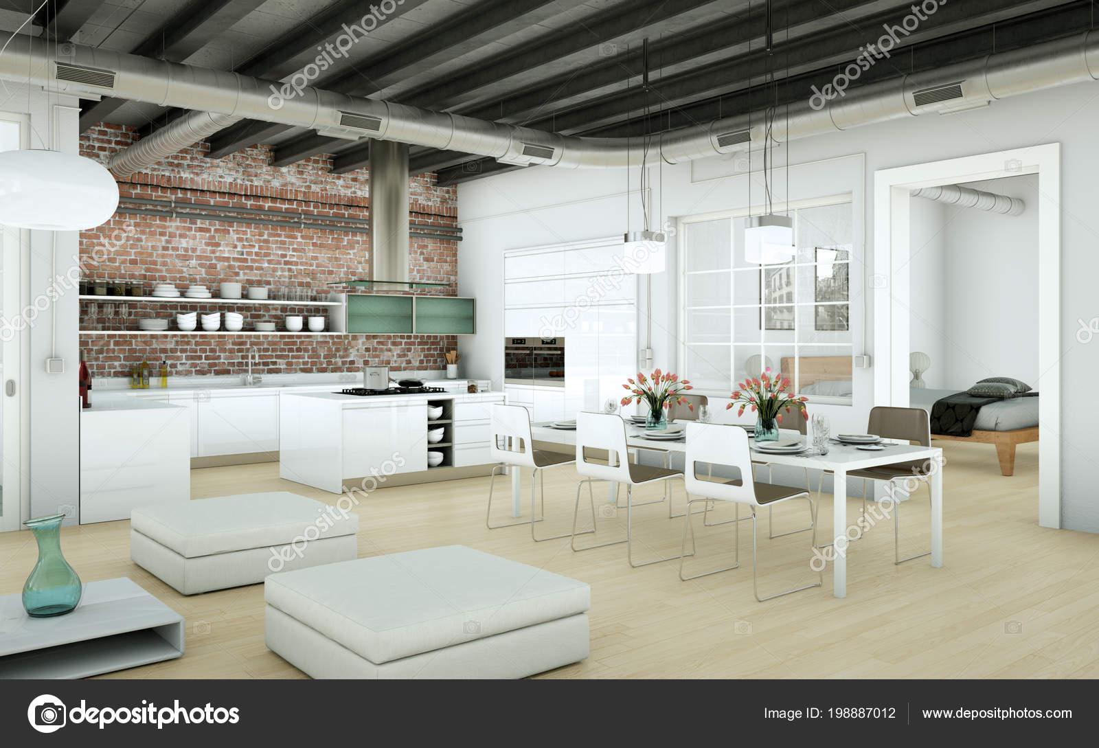 Modern Minimalist Living Room Interior Loft Design Style ...