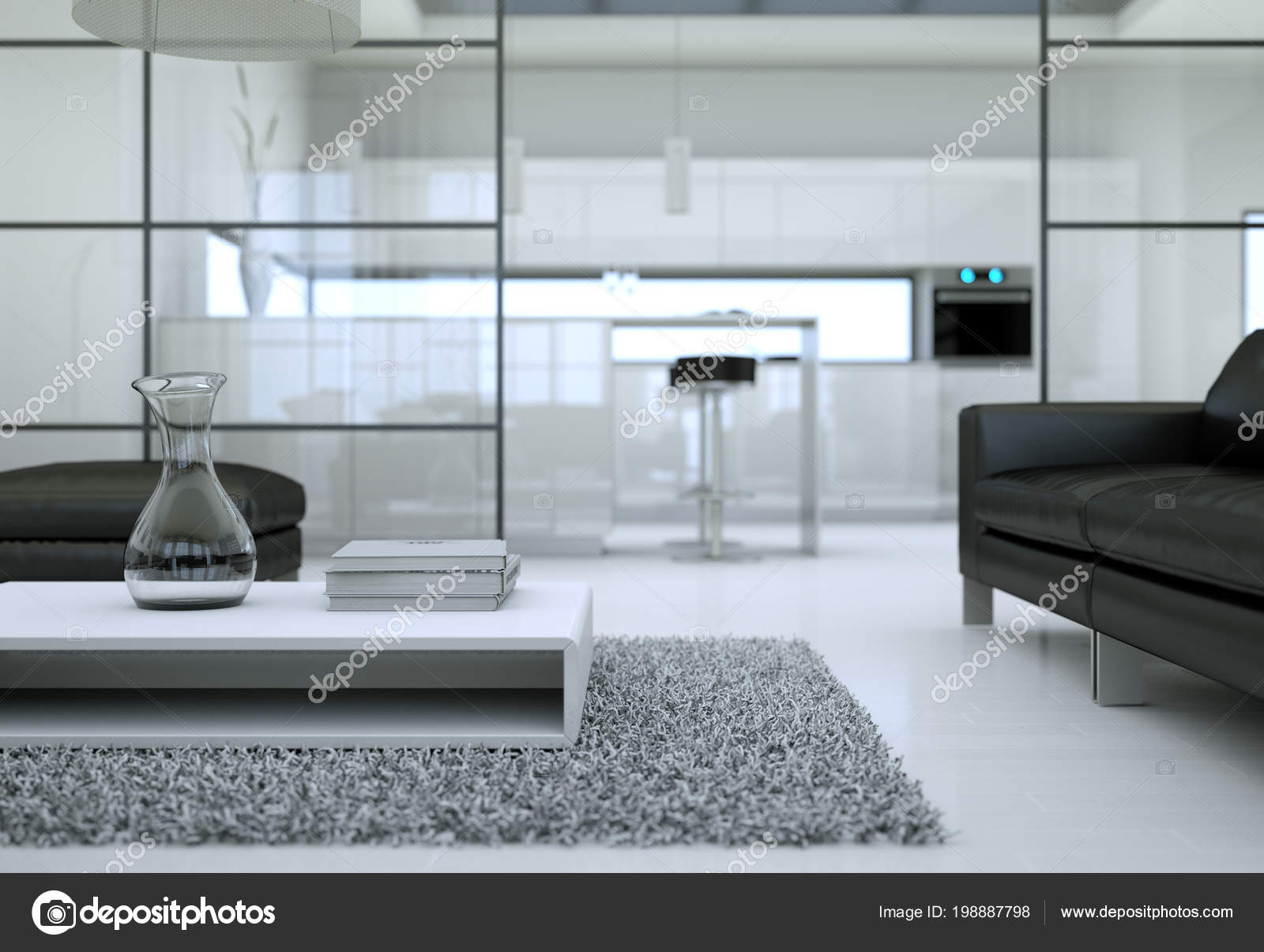 Modernen minimalistischen Wohnzimmer Interieur im Loft-Design-Stil ...