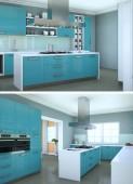 Dva názory moderní kuchyně design interiéru