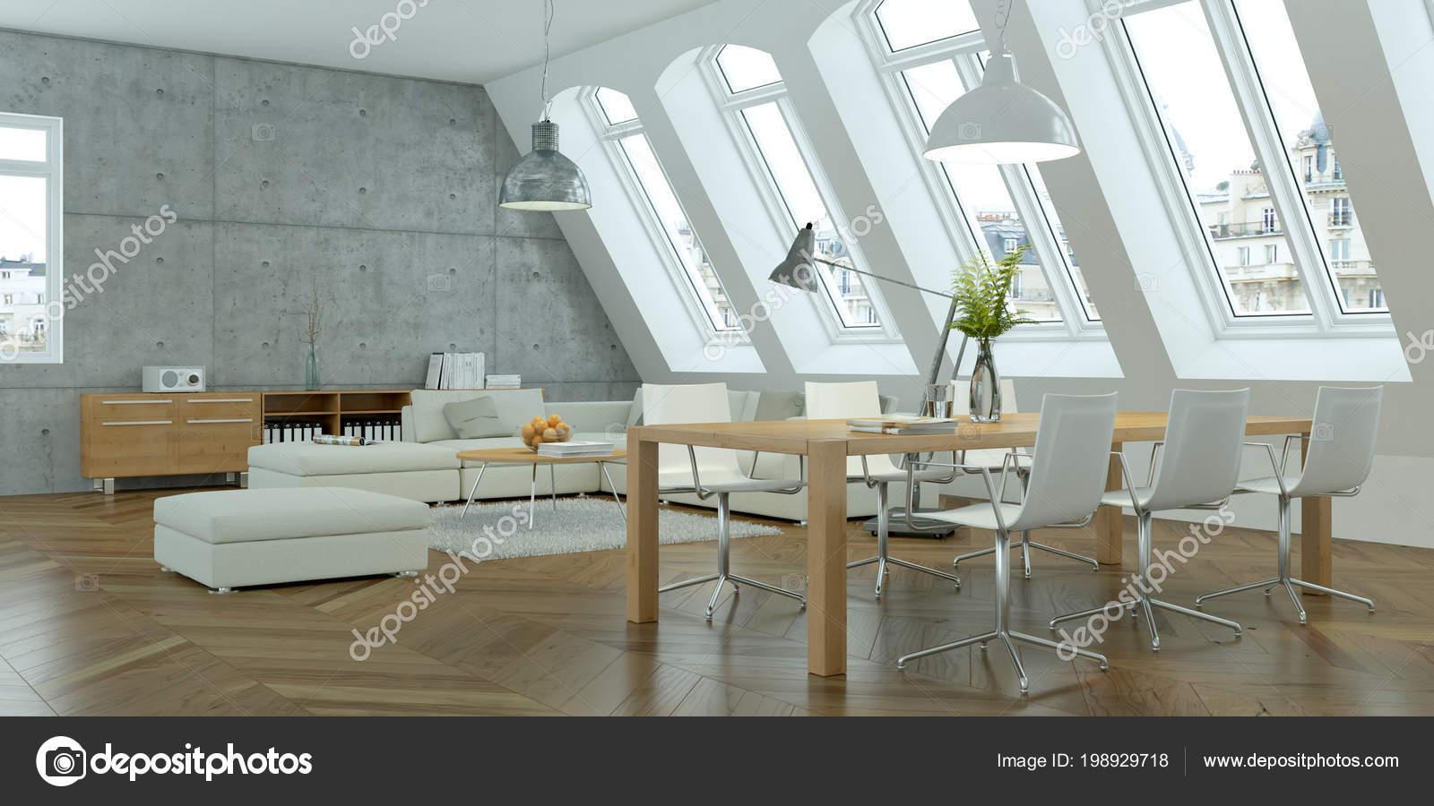 Moderne helle skandinavische innenarchitektur wohnzimmer mit