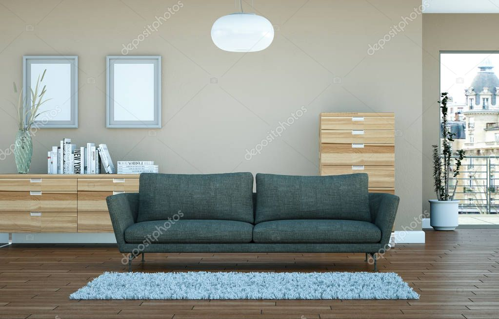 modern bright skandinavian interior design living room