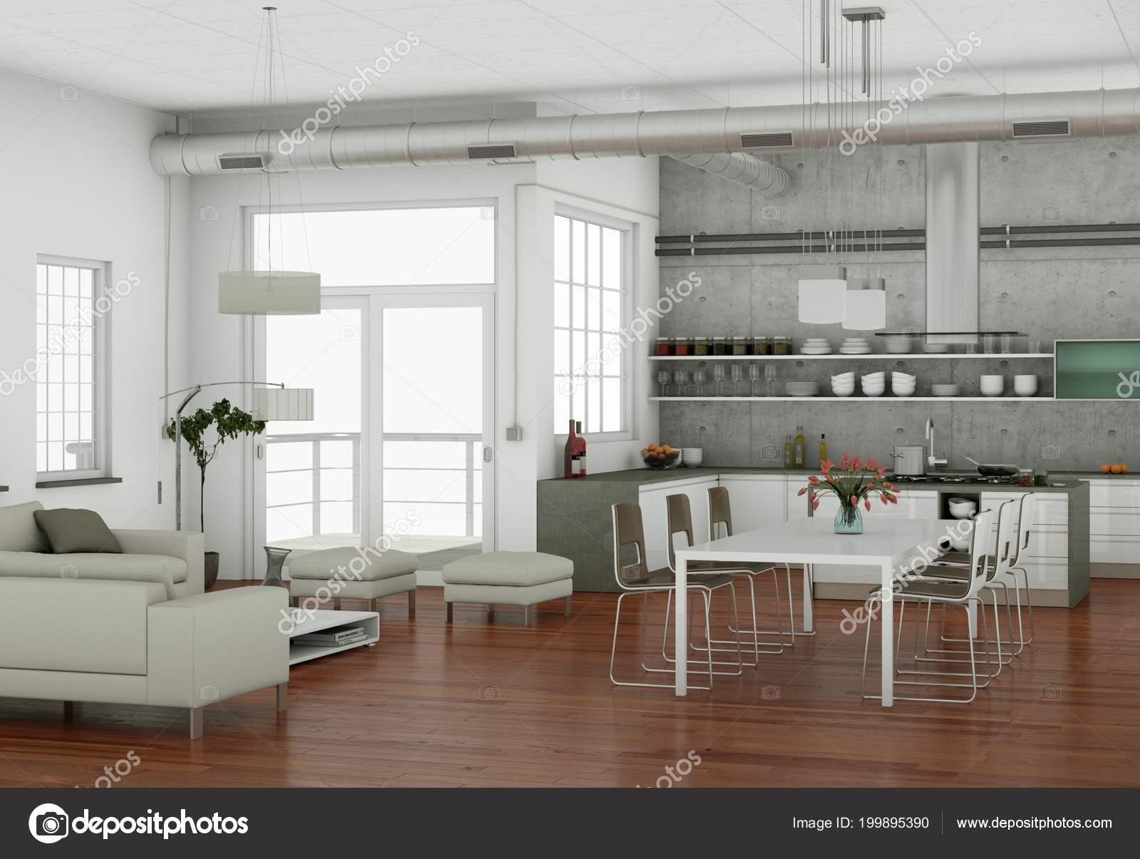Diseño de interiores sala-comedor moderno | Diseño de interiores ...