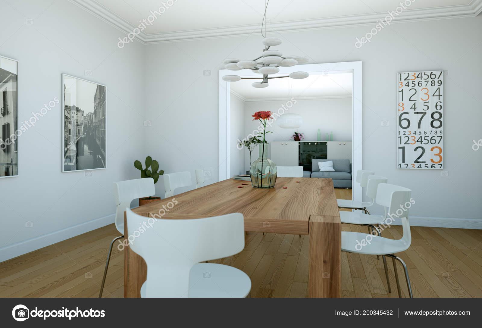 Arredare Sala Da Pranzo Moderna : Arredamento sala da pranzo in appartamento moderno u2014 foto stock