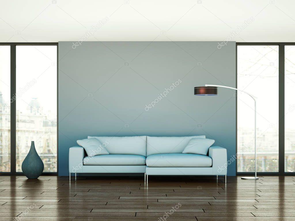 modern bright interior design living room