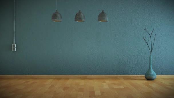 Budování moderního obývacího pokoje interiér 3d Design