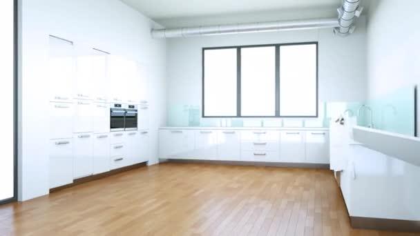 Budování moderní kuchyň interiér 3d Design