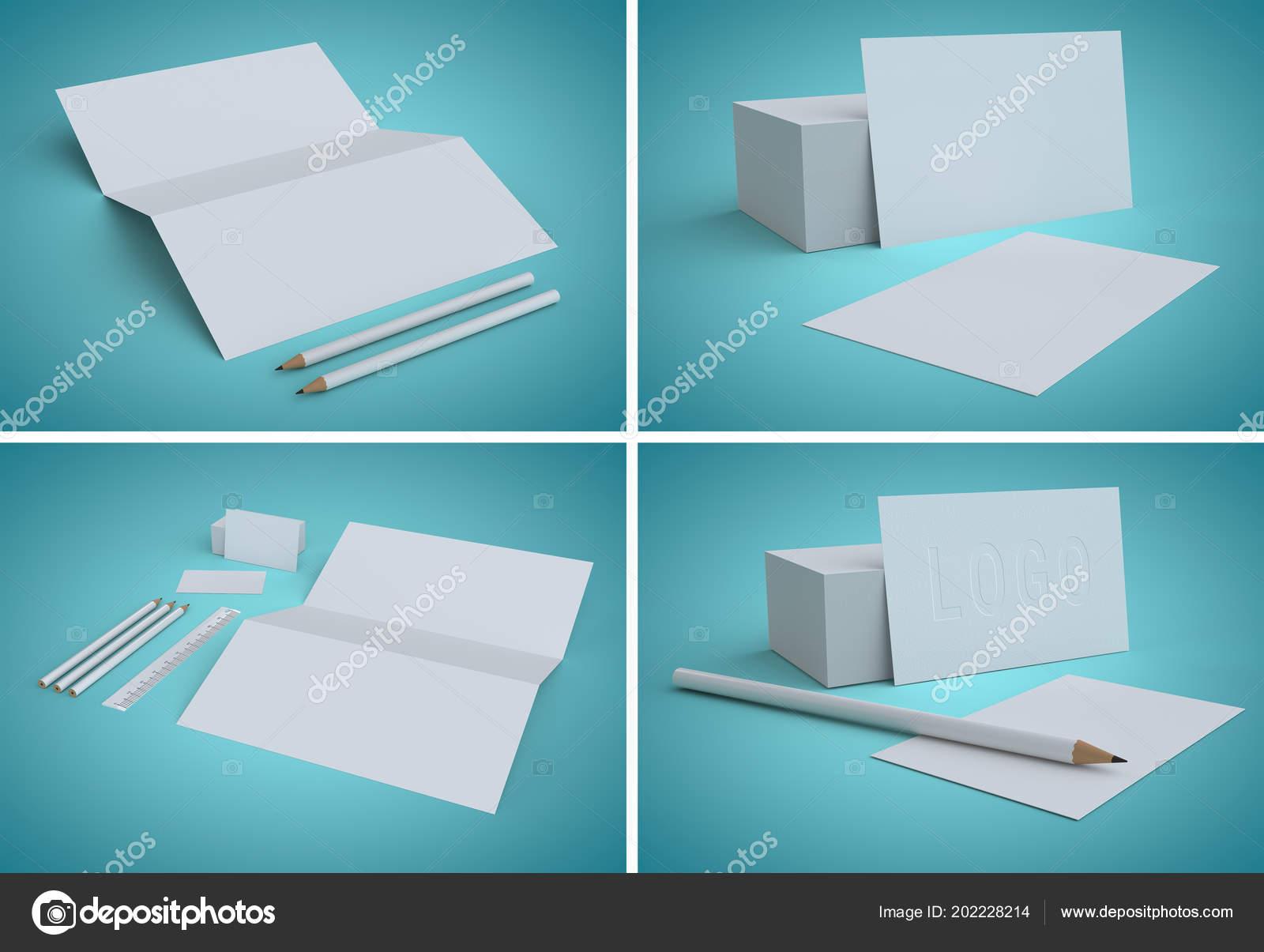 Blanko Visitenkarten Identität Design Unternehmensvorlagen