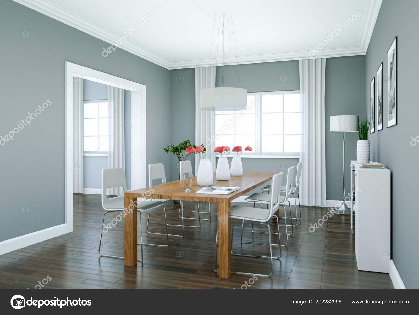 Arredamento sala da pranzo in appartamento moderno — Foto Stock ...