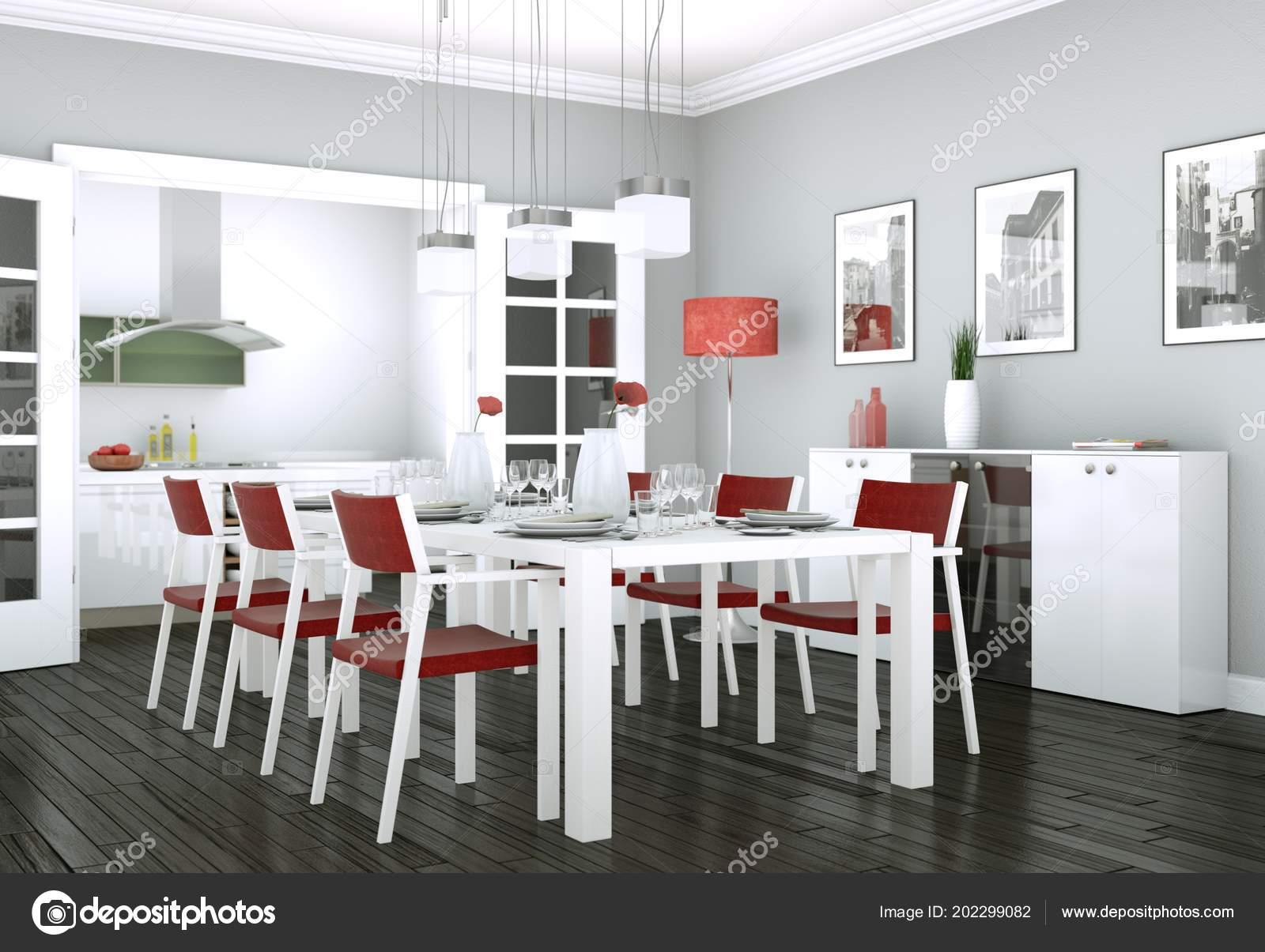 Mobili Sala Da Pranzo Moderna.Arredamento Sala Da Pranzo In Appartamento Moderno Foto