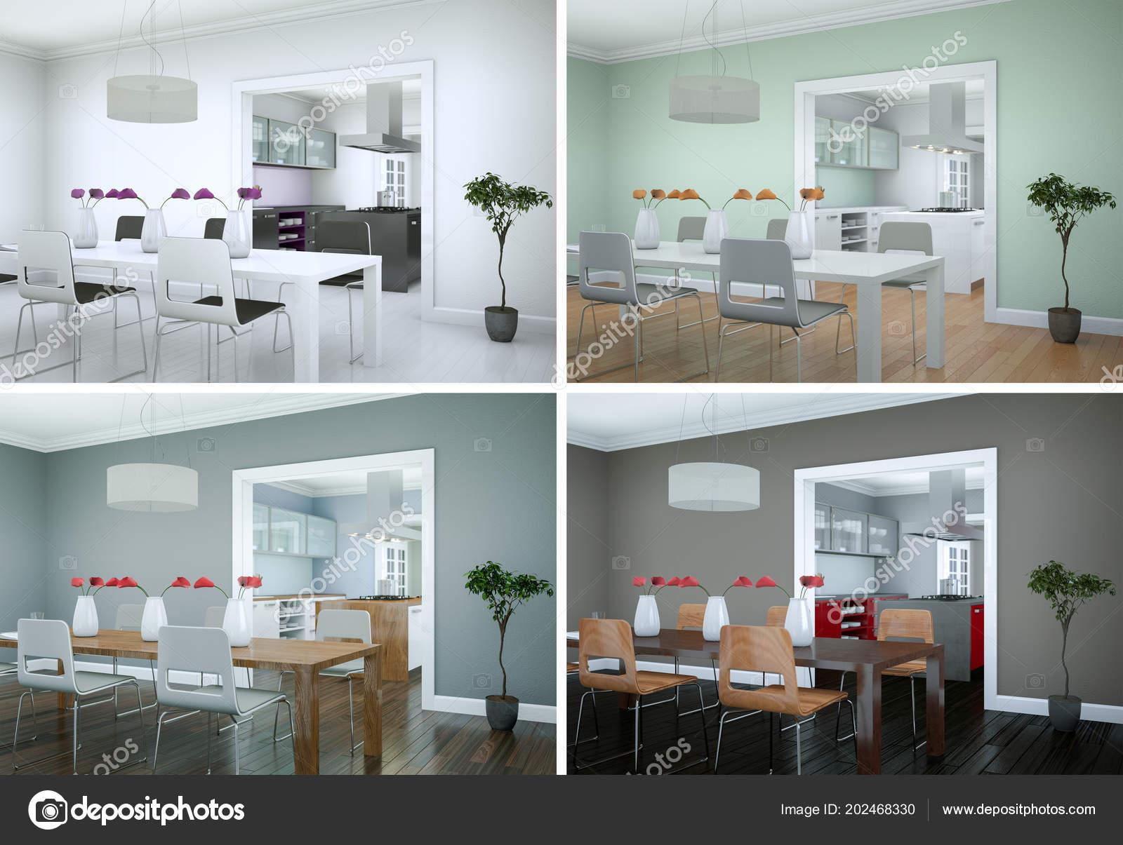 Modern interieur woonkamer kleuren eenvoudig zwart wit interieur