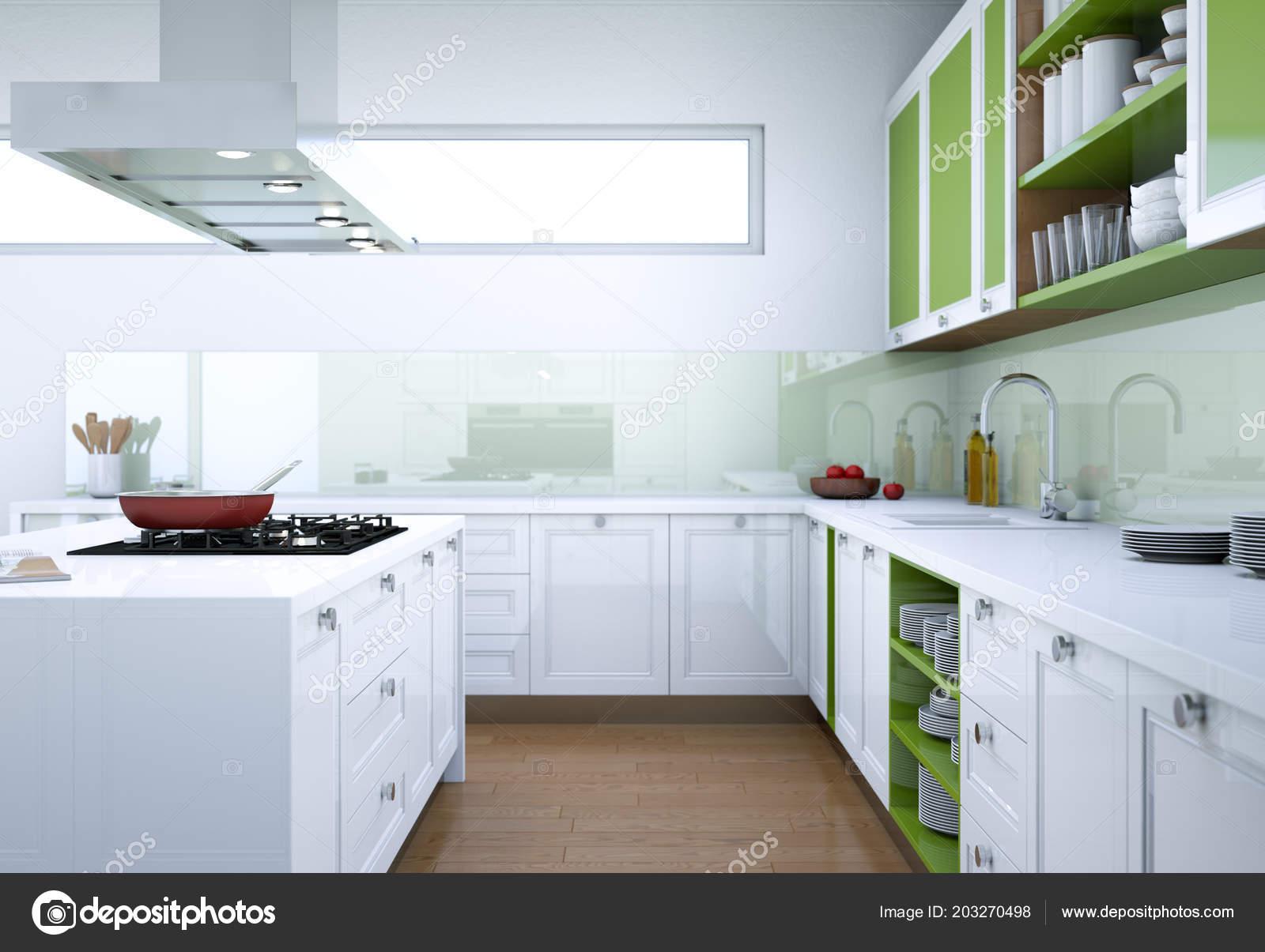 Illustration de design d\'intérieur de cuisine moderne ...