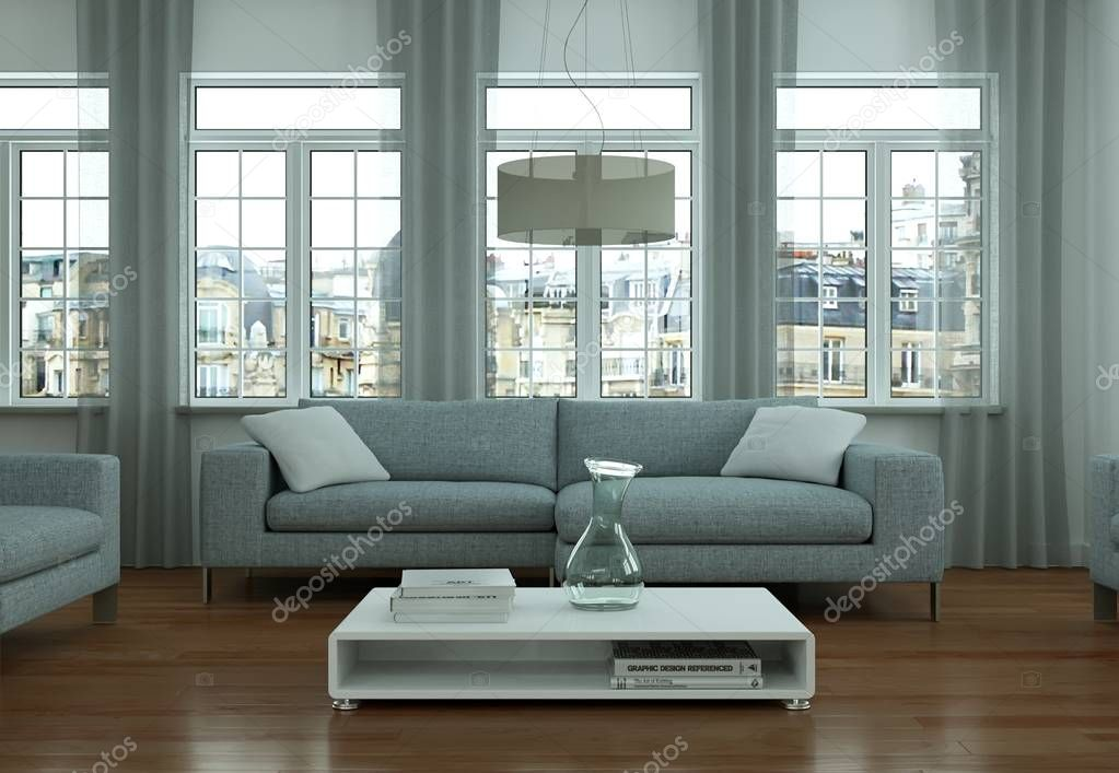 modern bright living room interior design